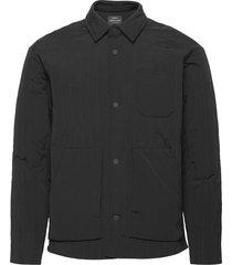 crinkle nylon sero doorgestikte jas zwart mads nørgaard