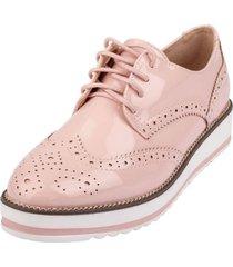 zapato oxford evoleth rosa weide