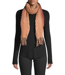 la fiorentina women's pleated ombre scarf - topaz camel