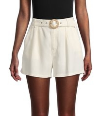 paige women's montana belted shorts - birch - size 8