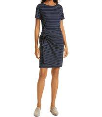 club monaco twansia stripe side twist dress, size x-small in twansia dress at nordstrom