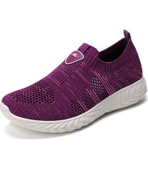 camicetta casual da donna soft slip on sneakers