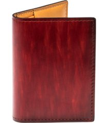 men's magnanni leather card case - red