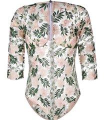gilda & pearl les fleurs bodysuit - pink
