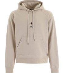 neil barrett oversized hoodie with thunder print