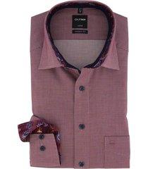olymp overhemd strijkvrij bordeaux modern fit