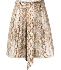 andamane snakeprint wide-leg shorts - neutrals