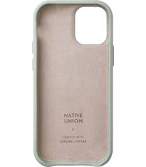 native union clic classic iphone case - sage - iphone 12/12 pro