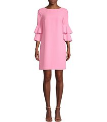 leona ruffle sleeve dress