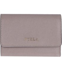 furla babylon tri-fold leather wallet