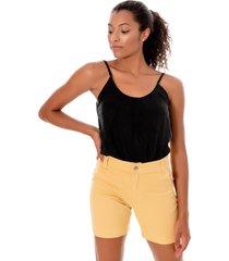 regata sisal jeans candy color preto - preto - feminino - liocel - dafiti
