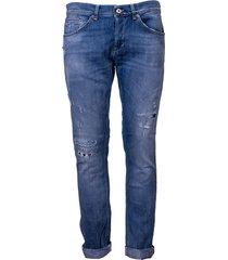 dondup ripped detail denim jeans