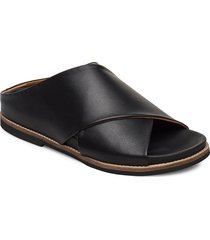 flat sandals shoes summer shoes flat sandals svart ganni