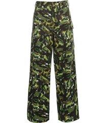 marni rainbow camouflage print drill pants