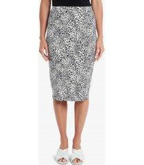 vince camuto women's iced leopard midi tube skirt