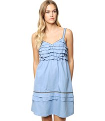 vestido azul sophya scarlett