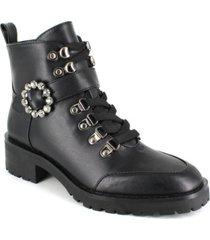 nanette lepore women's irina lace up buckle hiker booties women's shoes