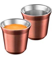 conjunto de xícaras para café expresso de metal cobre 4 peças