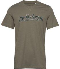 e camo lin tee t-shirts short-sleeved grön adidas performance
