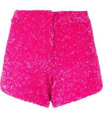 manish arora sequinned shorts - pink