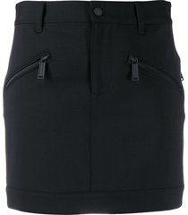 dsquared2 zipped pocket mini skirt - black