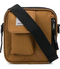 carhartt wip multi-pocket crossbody bag - brown