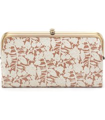hobo lauren leather double frame clutch - none