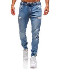 hombres esmerilado jeans classic moda diseño cremallera de pies pequeños jeans