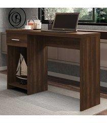 mesa escrivaninha 1 gaveta prisma new capuccino - móveis germai