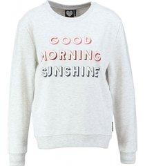catwalk junkie zachte lichtgrijze sweater