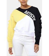 artistix colorblocked logo sweatshirt