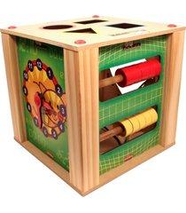 cubo carimbrás multiatividades multicolorido