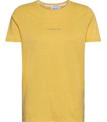 3d metallic logo t-shirt t-shirts & tops short-sleeved gul calvin klein