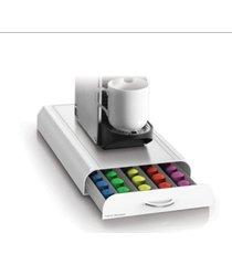 mind reader 50 capacity nespresso capsule, 24 capacity vertuoline coffee pod storage drawer organizer