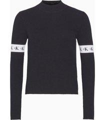 sweater monogram tape negro calvin klein