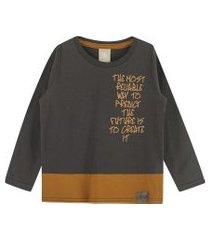 camiseta ml em meia malha penteada marrom colorittá 8 marrom