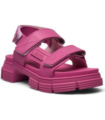 recycled rubber shoes summer shoes flat sandals rosa ganni