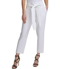 dkny tie-front ankle pants