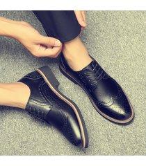 moda marca oxfords hombres zapatos casuales de cuero suave de alta calidad