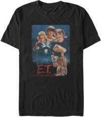 fifth sun e.t. the extra-terrestrial men's distressed vintage-like photograph short sleeve t-shirt