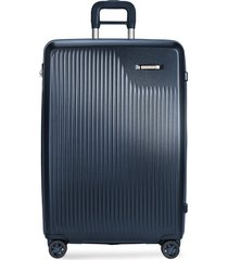 sympatico large expandable spinner suitcase - matte navy