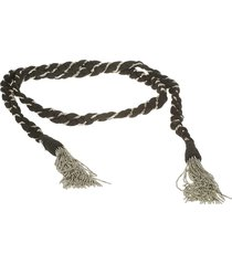 dondup tassel detail woven belt