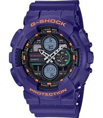 reloj g shock ga-140-6adr azul resina