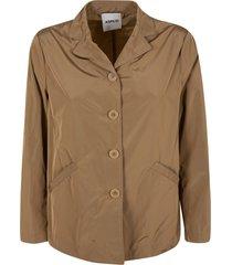 aspesi side slit pocket buttoned jacket
