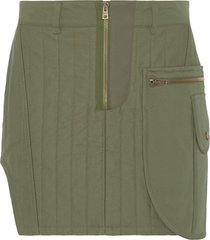 fenty quilted mini skirt - green