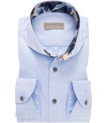 john miller modern fit overhemd blauw