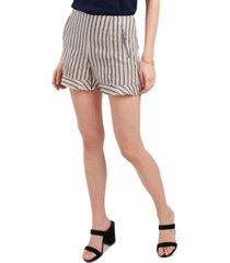 1.state striped ruffle-hem shorts