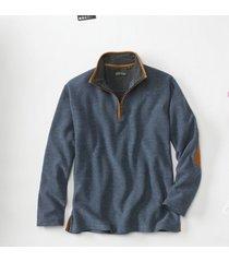 simoom tweed quarter-zip sweatshirt, navy, 2xl