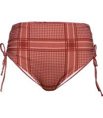bikini buttoms plus print high waist tie bikinitrosa röd zizzi