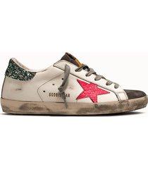 golden goose deluxe brand sneakers super star colore bianco glitter